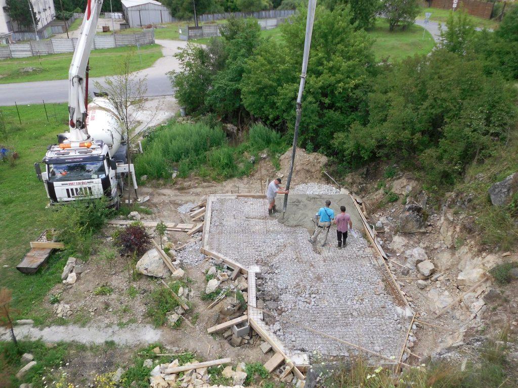 betonáž základovej platne